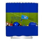 O.k. Blue Jays Let's Play Ball Shower Curtain