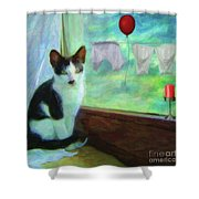 Ok I'll Pose - Painting - By Liane Wright Shower Curtain