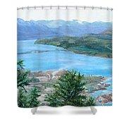 Okanagan Blue Shower Curtain