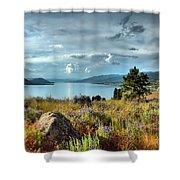 Okanagan Lake In The Spring Shower Curtain