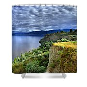 Okanagan Lake On A Thursday Shower Curtain
