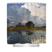 Okavango Delta Evening Shower Curtain