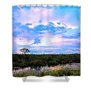 Okavango Sundowners Shower Curtain