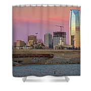 Okc Sunset Shower Curtain