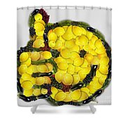 Okee Dokee Vegged Out Shower Curtain
