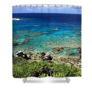 Okinawa Blue Ocean Shower Curtain