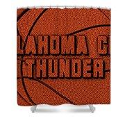 Oklahoma City Thunder Leather Art Shower Curtain