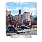 Oklahoma City Wide Angle Shower Curtain