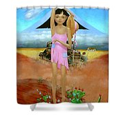Oklahoma Girl With Mt.fuji Shower Curtain