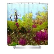 Oklahoma Spring Colors Shower Curtain