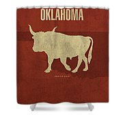 Oklahoma State Facts Minimalist Movie Poster Art Shower Curtain