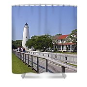 Okracoke Island Lighthouse Shower Curtain