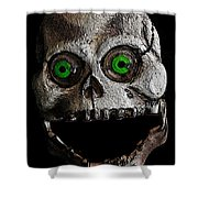 Ol' Wooden Skull Shower Curtain