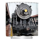 Old 734 Engine Shower Curtain