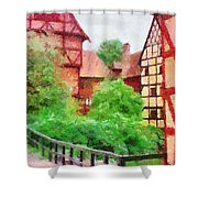 Old Aarhus Shower Curtain
