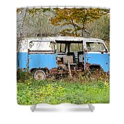 Old Abandoned Hippie Van Shower Curtain