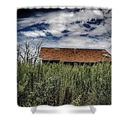 old abandoned house Texico NM Shower Curtain