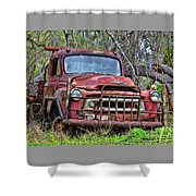 Old Abandoned International Truck Shower Curtain