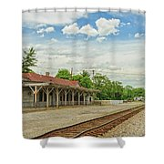 Old Abandoned Train Depot Shower Curtain