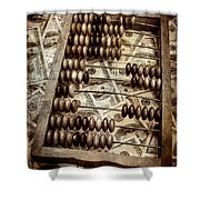 Old Accounting Wooden Abacus Shower Curtain