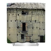 Old Adobe Building In Otavalo Shower Curtain