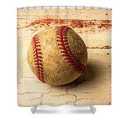 Old American Baseball Shower Curtain