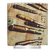 Old Ammunition Shower Curtain