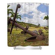 Old Anchor In Kauai Shower Curtain