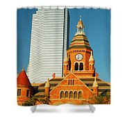 Old And New In Dallas Shower Curtain