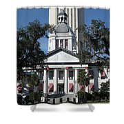 Old And New State Capitol Shower Curtain