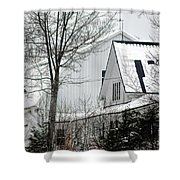 Old Andersson Farmstead Shower Curtain