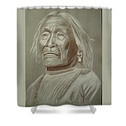 Old Apache Scout Shower Curtain
