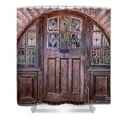 Old Arched Doorway-tucson Shower Curtain