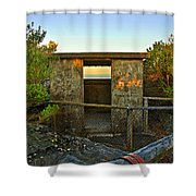 Old Army Lookout In Sunset Hour Shower Curtain