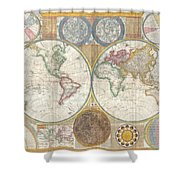 Old Atlas Shower Curtain