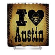 Old Austin Shower Curtain