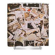 Old Australia In Stamps Shower Curtain