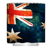 Old Australian Flag Shower Curtain