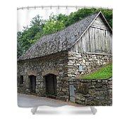 Old Austrian Barn Shower Curtain