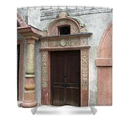 Old Austrian Door Shower Curtain