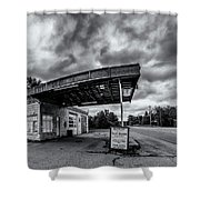Old Auto Garage In Ellershouse Shower Curtain