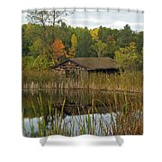 Old Bait Shop On Twin Lake_9626 Shower Curtain