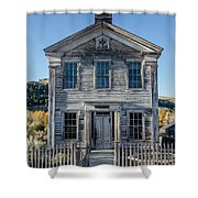 Old Bannack Schoolhouse And Masonic Temple 2 Shower Curtain