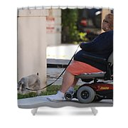 Old Barefoot Women Shower Curtain