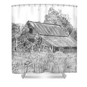 Old Barn 4 Shower Curtain by Barry Jones
