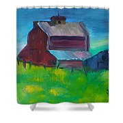 Old Barn And Shed  Shower Curtain by Steve Jorde