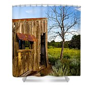 Old Barn And Tree Shower Curtain
