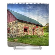 Old Barn At Dusk Shower Curtain by Scott Norris