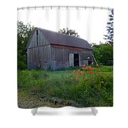 Old Barn At Dusk Shower Curtain