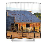 Old Barn At Sunset Shower Curtain